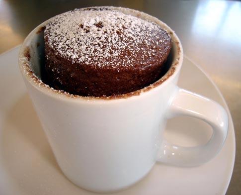 """5-minute chocolate mug cake"""