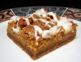 """pumpkin bars"""