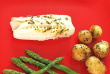 """steamed haddock with warm potatoes"""